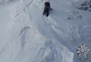 ソエマツ先の雪壁